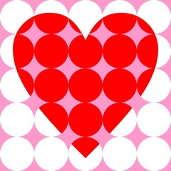 Heart from circles
