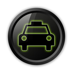 "Black Icon (Green Outlines) ""Taxi Cab"""