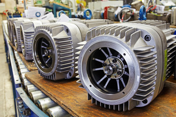 industrial production of electric motors