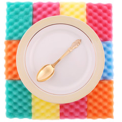 Plate with the gold spoon