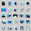 multimedia Blue Stickers