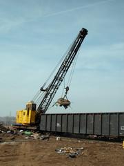 junk yard crane