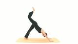 Yoga Asana in sequence: Three-legged Dog poster