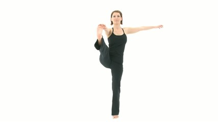 Yoga Asana Extended Hand to Big Toe Pose