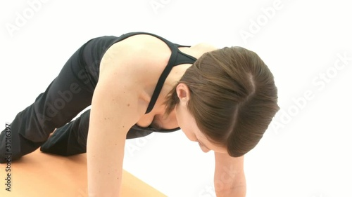 Yoga Asana in sequence: Side Plank, Wild Thing