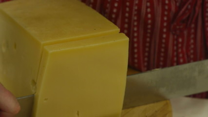 HD1080p25 Slicing cheese
