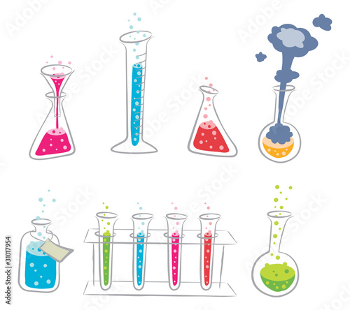 Cartoon Chemistry Set
