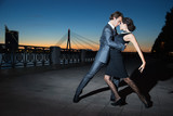 Fototapety tango in the night city