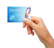 Doctor giving business card