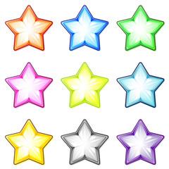 Set of glass stars