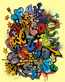 Graffiti elements vector - 31025769