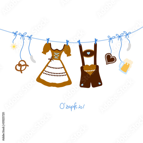 Octoberfest Symbols Hanging Brown