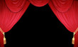 Roter Vorhang eines Theaters