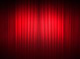 Edle Vorhänge eines Theaters