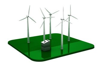 3D Windkraftwerk
