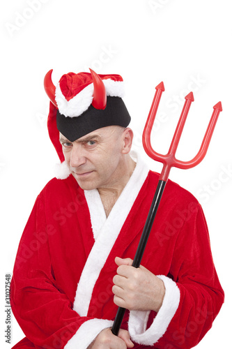 Santa Claus with horns