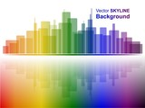 Vector Skyline in Rainbow Colors