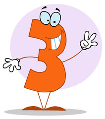 Funny Cartoon Numbers-3, background
