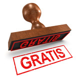 "3d Rubber Stamp - ""Gratis"""