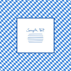 Seamless Pattern Octoberfest Blue/White Diagonal Text