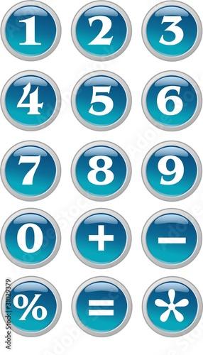 boutons nombre