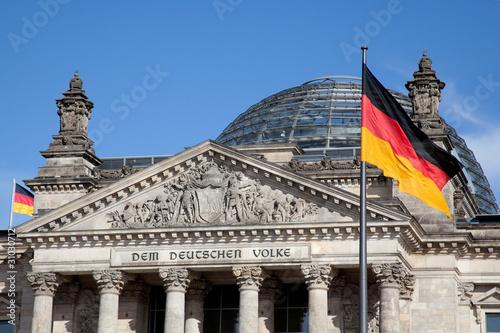 Leinwanddruck Bild Reichstag