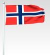 138 - Norwegische Flagge - Render