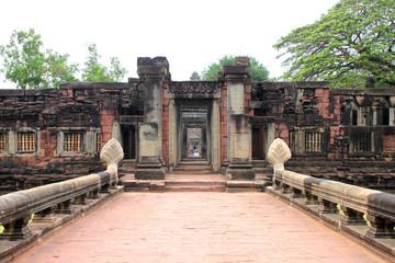 Ancient architecture at Prasat Phimai stone sanctuary, Korat