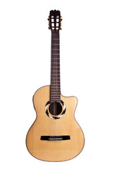 guitar wood art acoustic white