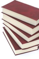 pila di libri rilegati in pelle