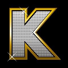 Bling bling font type_letter K