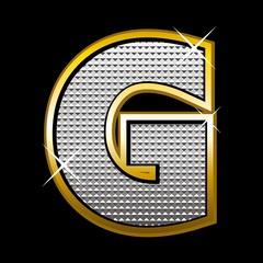 Bling bling font type_letter G