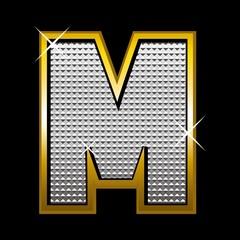 Bling bling font type_letter M