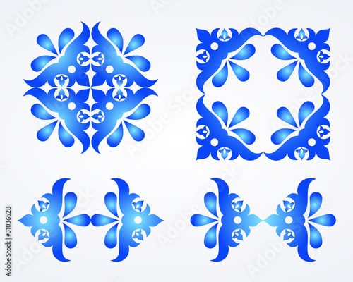 Blue vector ornament background