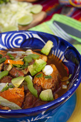 Pozole mexican traditionnal cuisine 7