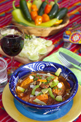 Pozole mexican traditionnal cuisine 9