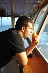 navigator speaks by radio