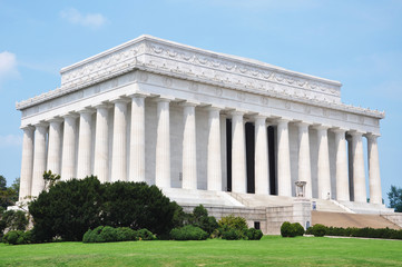 Lincoln Memorial in Washington DC, USA