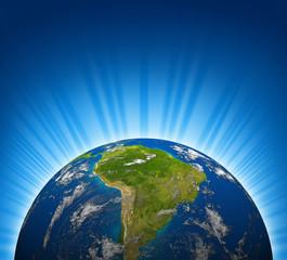 South america earth planet model
