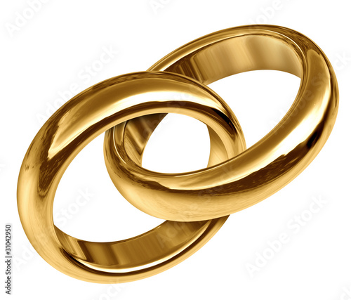 Wedding Rings Linked Together For Eternal Partnership Stock Photo And Royalty Free Images On