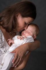 toddler and mum