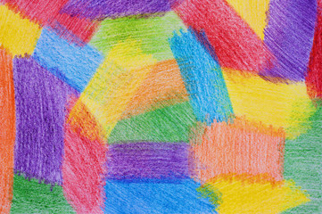 Color background drawn by pencils.