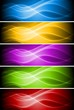 Set of vibrant banners