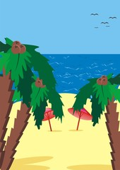 vector illustration depicting the beach