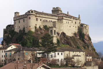 The medieval fortress of Bardi, Parma
