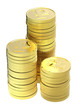 Gold ruble coins
