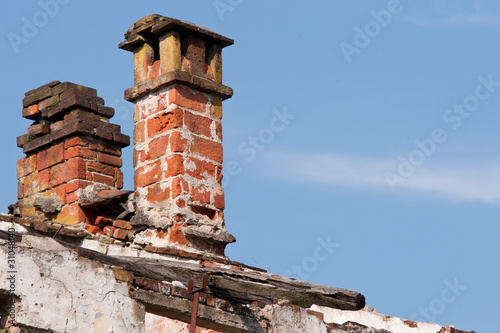 chimneys crumbling