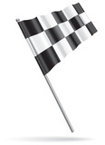 Vector single checkered flag, gradient only design (mesh free).