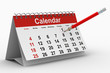 calendar on white background. Isolated 3D image - 31049763