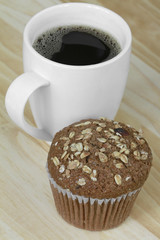 Oat Bran Muffin with Coffee